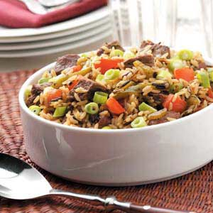 Beef and Wild Rice Medley Recipe