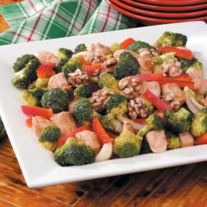 Walnut Chicken Stir-Fry Recipe