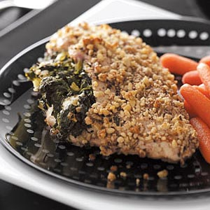 Spinach-Walnut Stuffed Chicken Recipe