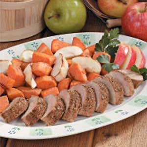 Pork with Apples and Sweet Potatoes Recipe