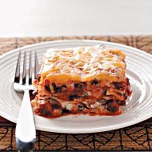 Cheesy Black Bean Lasagne Recipe