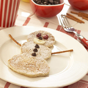 Banana Pancake Snowmen Recipe
