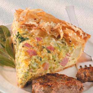 Broccoli-Ham Cheese Pie Recipe