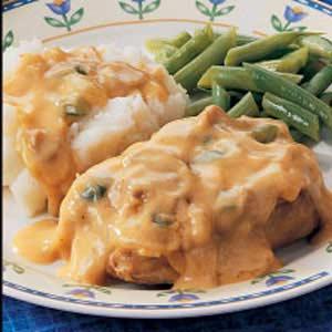 Chops with Mushroom Gravy Recipe