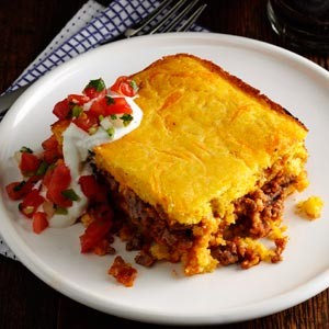Chili Beef Corn Bread Casserole Recipe