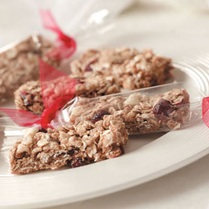 White Chocolate Cranberry Granola Bars Recipe