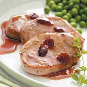 Cranberry-Mustard Pork Medallions Recipe