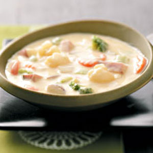 Veggie Cheese Soup Recipe