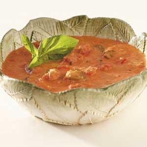Chunky Tomato-Basil Bisque Recipe