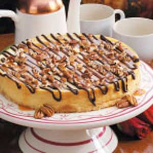 Chocolate-Caramel Topped Cheesecake Recipe