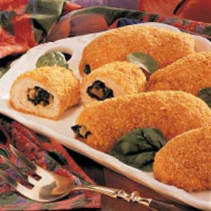 Breaded Spinach-Stuffed Chicken Recipe