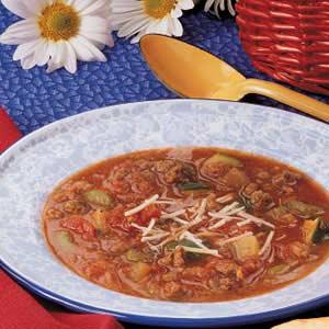 Zucchini Beef Soup Recipe