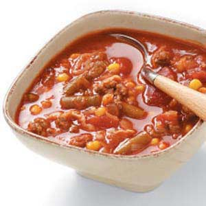 Hearty Beef Veggie Soup Recipe