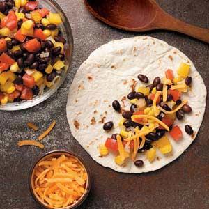 Cheesy Black Bean Quesadillas Recipe