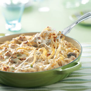 Turkey Fettuccine Skillet Recipe
