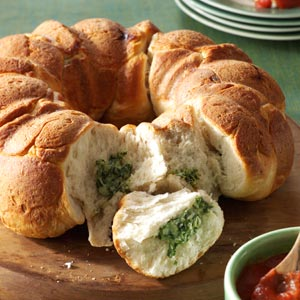 Spinach Dip Pull-Aparts Recipe