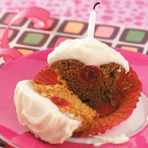 Cherry Gingerbread Cupcakes Recipe