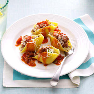 Makeover Easy Beef-Stuffed Shells Recipe
