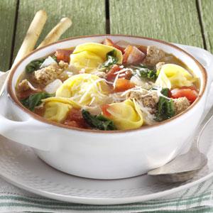 Rustic Italian Tortellini Soup Recipe