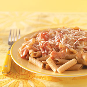 Makeover Penne with Vodka Cream Sauce Recipe