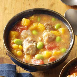 Harvest Butternut & Pork Stew Recipe
