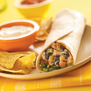 Fiesta Chicken Burritos Recipe