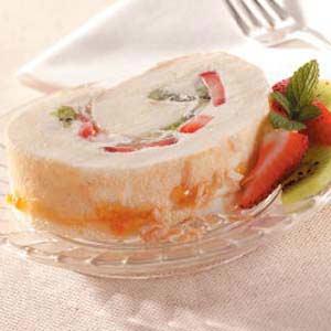 Fruity Coconut Cake Roll Recipe