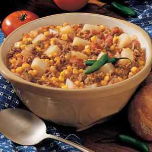 Southwestern Meat and Potato Stew Recipe