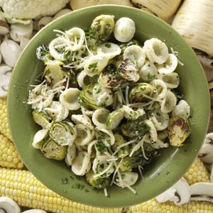 Orecchiette with Roasted Brussels Sprouts Recipe