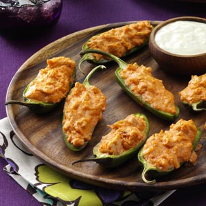 Buffalo Wing Poppers Recipe