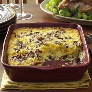 Makeover Pecan Corn Pudding Recipe