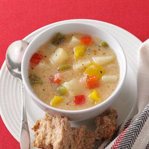 Chunky Pepper Potato Soup Recipe