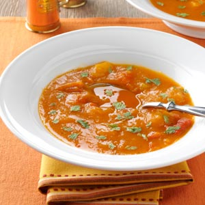 Butternut Squash and Roasted Pepper Soup Recipe