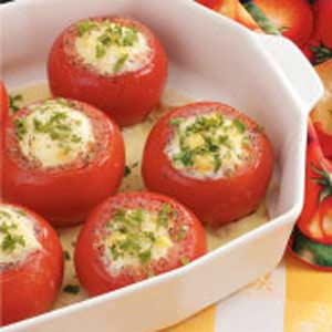 Corn Pudding Stuffed Tomatoes Recipe
