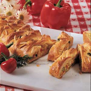 Savory Chicken Vegetable Strudel Recipe