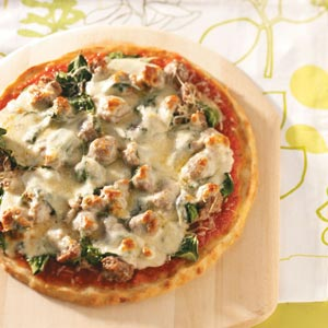 Sausage Spinach Pizza Recipe