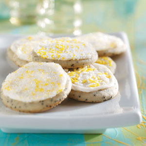 Frosted Poppy Seed Cookies Recipe