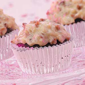 Coconut-Frosted Chocolate Cupcakes Recipe