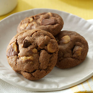 Chocolate-Peanut Butter Cup Cookies Recipe