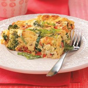 Zucchini Tomato Frittata Recipe