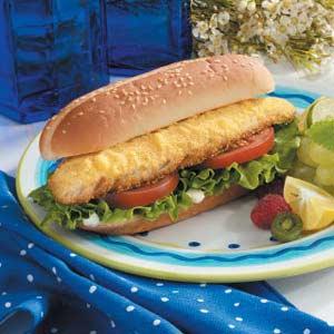 Hearty Walleye Sandwiches Recipe