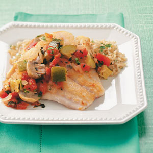 Snapper with Zucchini & Mushrooms Recipe