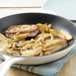 Onion-Apple Pork Chops Recipe