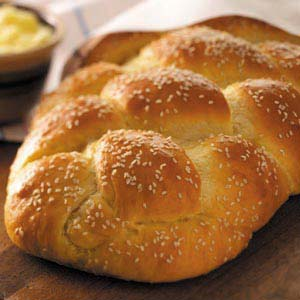 Golden Braided Sesame Bread Recipe