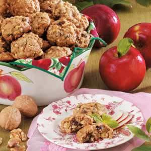 Walnut Raisin Apple Cookies Recipe
