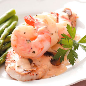 Sole with Shrimp Sauce Recipe