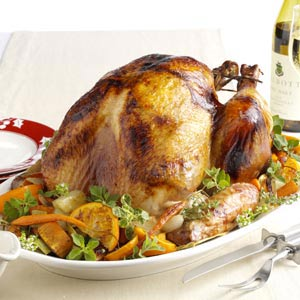 Roasted Turkey a l'Orange Recipe