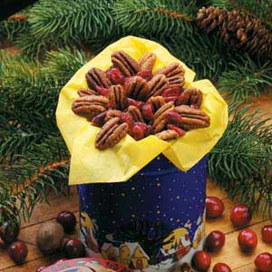Spicy Pecans N Cranberries Recipe