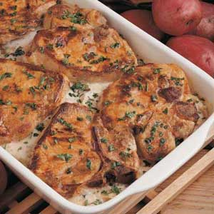 Scalloped Potatoes and Pork Chops Recipe