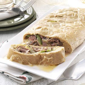 Makeover Philly Steak and Cheese Stromboli Recipe